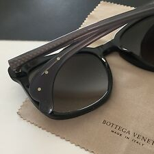 BOTTEGA VENETA Women's Oversized Black Square Plastic Frame Sunglasses BV222S