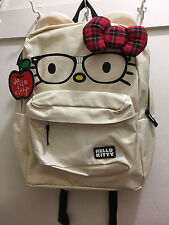 Loungefly/Sanrio Hello Kitty Backpack Beige Color With Glasses&Argyle Desige Bow