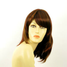 mid length wig brown copper wick light blond and red ref: ODELIA 33H PERUK