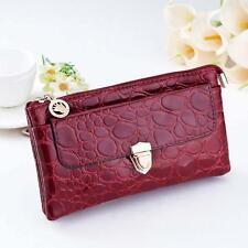 Embrayage de clic femmes porte-monnaie porte-monnaie en cuir sac à bandoulière sac à main Mini Cross-Body