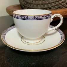 """Wedgwood Palatia 2 3/4"""" Footed Cup & Saucer England Pristine - 9 Sets Available"""