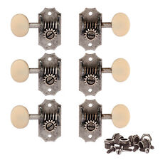 Golden Age Restoration Guitar Tuners 3+3, Relic nickel