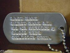 military ID tags dog tags military dog tag Vietnam veteran stainless iraq