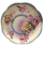 Vintage Wheelock Vienna Austria Porcelain Bowl/Plate Floral Roses