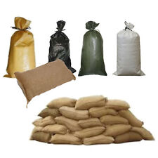 Pack of 75 all types Yuzet Sand Bags With Ties Flood Protection Sack Sandbag