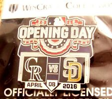 2016 Opening Day Coors Field Colorado Rockies SD San Diego Padres lapel pin v2