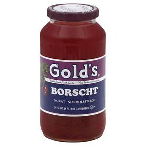 GOLDS, SOUP BORSCHT, 24 OZ, (Pack of 6)