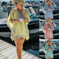 Hot Women Kaftan Bikini Beachwear Cover Up Beach Loose Dress Summer Tops Clothes