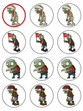 """12 ZOMBIES 2"""" CUPCAKES EDIBLE ICING IMAGE CAKE TOPPERS"""