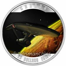 Canada 2016 Star Trek 50th Starship USS Enterprise I, Mudd $20 Pure Silver Proof