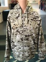 Supreme Arc Logo Thermal Zip Up Sweatshirt Tan Digi Camo FW17 Size Medium DS