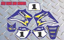 R2 R3 LX3 LEM DÉCALQUE AUTOCOLLANT GRAPHIQUE 2003-2012 RX 65 150 BLUE ET JAUNE