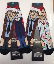 STANCE CHRISTMAS VACATION SERIOUS JAMMIES & SANTAS SOCKS LAMPOONS CLARK 2 PAIRS!