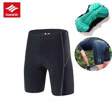 Santic Riding Fashion Men's Tight Shorts Cycling Short Pants 4d Padded Black M