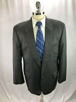 Hugo Boss Men's Gray Wool Pinstripe Blazer Jacket Sport Coat 42R