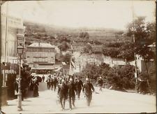 Puy de Dôme, Royat. Les Pompiers  Vintage citrate print. Auvergne.  Tirage cit