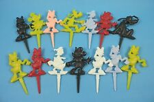 Original c1950's Walt Disney Character Cake Decorations - Mickey, Donald, Pluto