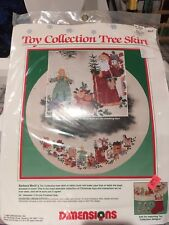 """Dimensions Tree Skirt Cross Stitch Kit """"Toy Collection"""" 46"""" by Barbara Mock 1989"""