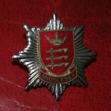 VINTAGE OBSOLETE LONDON FIRE BRIGADE CAP BADGE - ONE CROWN