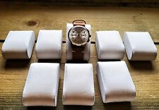 Set of 12 Ivory/Cream Suede Watch Cushions Watch Pillows Case Box Display NEW