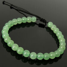 Comfortable Drawstring Bracelet Green Aventurine Quartz Gemstones 6mm Beads 1612
