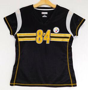 PITTSBURGH STEELERS Antonio BROWN #84 JERSEY TEE NFL Team Apparel WOMEN MEDIUM