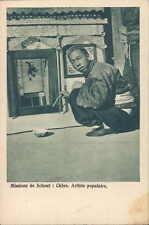 CHINA Belgian mission street artist 1910s PC