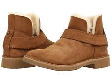 Para mujeres Zapatos ugg McKay característico de piel de oveja al tobillo Botines 1012358 Castaño