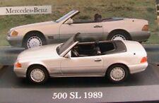 MERCEDES 500 SL 1989 R129 V8 SILVER CABRIOLET IXO ALTAYA 1/43 ROADSTER SILBER