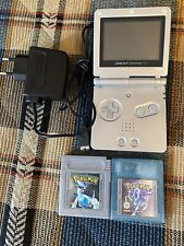 Nintendo Game Boy Advance Sp mit Pokemon Kristall & Silber Edition