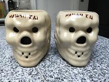 2 Vintage Hawaii Kai Otagiri Co Hollow Coffee Cup Skull Mug Tiki Bar Heavy