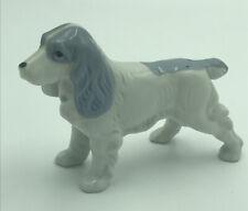 """Vintage Porcelain English Springer Spaniel Dog Figurine 5"""" x 3.5"""" Made In Japan"""
