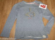 Imps & Elfs girl top t-shirt 116 cm 5-6 y BNWT designer grey organic cotton