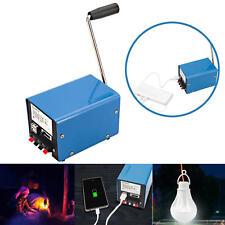 Outdoor 20W Manual Hand Crank Generator DIY USB Electric Dynamo Power Emergency