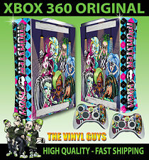 XBOX 360 ORIGINAL MONSTER HIGH VAMPIRE 2 GOOFY ZOMBIE STICKER SKIN & 2 PAD SKINS