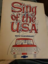 1964 Sing Of The USA With Chevrolet Song Book 1964 Impala Chevelle Corvette EUC