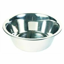 Trixie Stainless Steel Bowl Dog Cat Food Water 2.8l 24 Cm