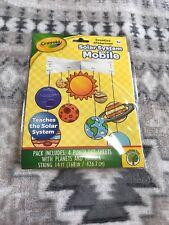 Crayola Solar System Mobile Classroom Home school Science Fair DIY Easy Kit