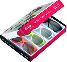LG AG-F315 PARTY PACK 4pcs for Cinema 3D Glasses Works on ANY TV with PASSIVE