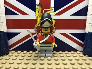 1x LEGO British Scots Greys Officer 1812 with Sabre And Hat