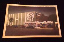Vintage Hollywood California Earl Carroll Theatre Postcard