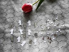 (10g/ 3,21€)  2x Streudeko Hochzeit Tisch Paar Just Married Silber Weiß Sekt