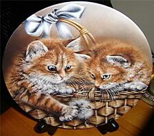 Baskets of Love Justin & Jessica, Orange Tabby Cat Kitten, Alexei Isakov Plate