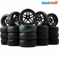 20pcs 1/10 on road arrows Tires and hex 12mm Wheels rims For RC 1:10 Touring Car