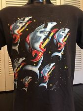 Vtg 91 Great White Tour Shirt Sz M Rock Ratt Metal Crue Van Halen Leppard Dokken