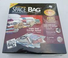 NEW FACTORY SEALED ORIGINAL SPACE BAG 12 PACK VACUUM SEAL & ROLL UP STORAGE BAGS
