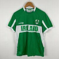 Lansdowne Ireland Football Jersey Shirt Mens Small Green White Short Sleeve