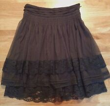 Women's Mouse Grey 2 Layers Lace Net Skirt Vero Moda Size:36  Hen Night Out
