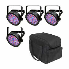Chauvet DJ SlimPar 56 LED DMX SlimPar Can Light Effect (4 Pack) + Transport Bag