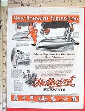 1926 HOTPOINT Electric Iron & HOOSIER Kitchen Cabinets 2-Sided Vtg Print Ad 6816